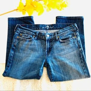 7 For All Mankind Cropped Denim Jeans Size 29